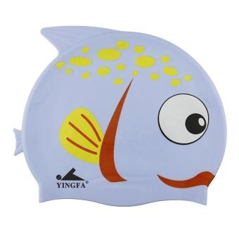 BELI Yingfa kartun, tidak beracun tahan air untuk melindungi rambut silikon topi renang TERMURAH