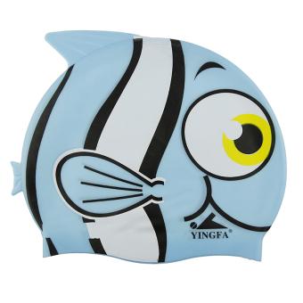 Yingfa kartun, tidak beracun tahan air untuk melindungi rambut silikon topi renang