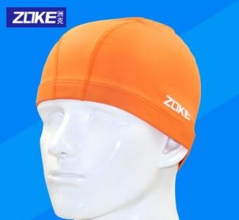 DISKON ZOKE nyaman warna solid dengan rambut panjang topi renang besar topi renang TERPOPULER