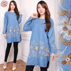 168 Collection Atasan Blouse Jeans Kirana Kemeja Jumbo Wanita -h Biru TuaIDR97900. Rp 97.900