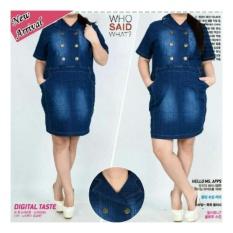 ... Overall Biru Source · 168 Collection Mini Dress Jumbo Lola Jeans Biru Tua