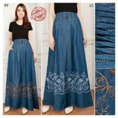 168 Collection Rok Maxi Jeans Janeta Rok Panjang