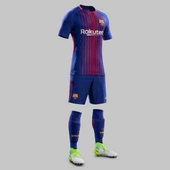 harga 2017-18 Barcelona Home Shirt Jersey football jersey soccer jersey with free shorts original logo - intl Lazada.co.id