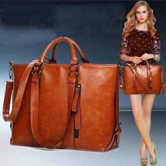 2017 Fashion PU Tote Women Leather Handbags Messenger Shoulder Bags (Brown) - intl