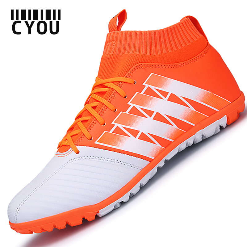 2017 Men Soccer Shoes Outdoor Football Shoes Boys Kids High AnkleSoccer Shoes (
