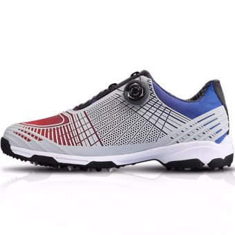 2017 Newest Golf Men Shoes Non-slip High Quality Golf PersonalGoods(red blue) - intl