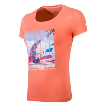 361 kasual asli musim gugur bernapas t-shirt kemeja leher bulat lengan pendek t-shirt (Merah muda permen)