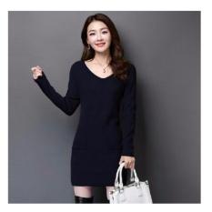 Rp 78.965 369 Sexy Mini Dress Casual Wanita Lengan Panjang Bahan Rajut Dengan ...