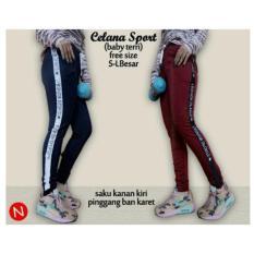 Arsy sport celana training model lis 3 - Hitam - Biru pon. Source · 42568