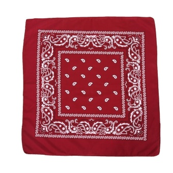 55cmx55cm Polyester Printing Head Wrap Multi Function Outdoor Cycling Biker Scarf(Burgundy) - intl
