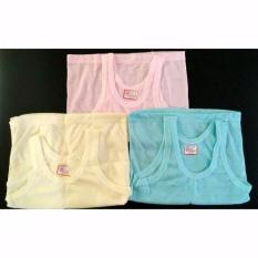 6 Pcs Kaos Dalam Anak - Singlet Anak - Size M, L, XL - Warna Pink, Kuning, Biru