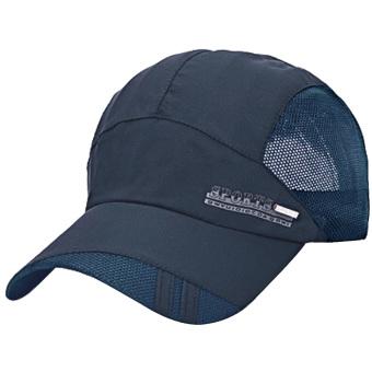 Adapula musim panas luar ruangan olahraga bernapas cepat keringtopi baseball dapat disesuaikan padat matahari kedok hat