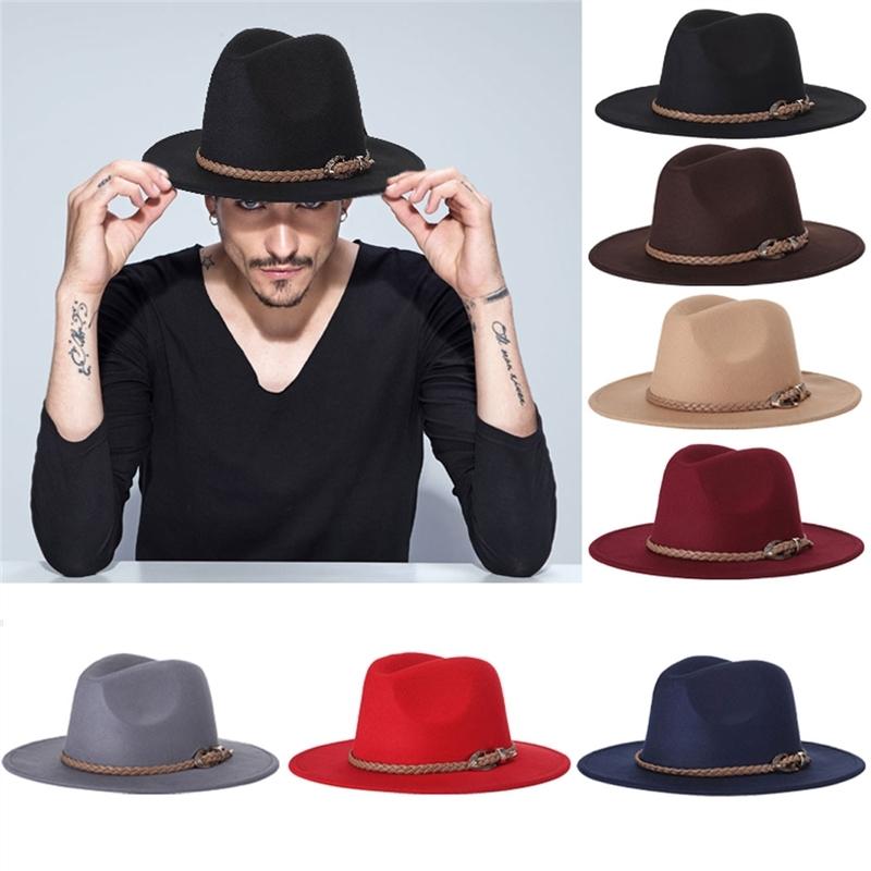 Adapula wol topi Fedora aksesori kostum dengan disesuaikan dengan ikat  pinggang (hitam . 6ab86a83f0