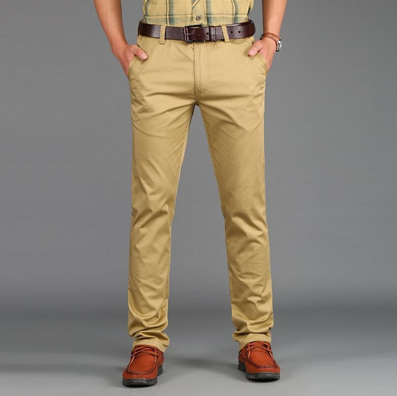 ... AFS JEEP men s casual fashion cotton large size trousers(Khaki) -intl  ... bd54b1aa48