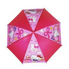 AIUEO Payung Anak Karakter dengan Peluit Motif Hello Kittys TIPE 1 - Pink