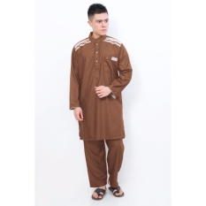 Al-Isra Pakaian Muslim Setelan Gamis Pria Cordova (Coklat)