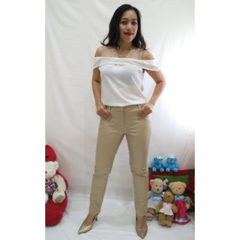 ALANA Chino Khaki Pants Wanita - Khaki - 3