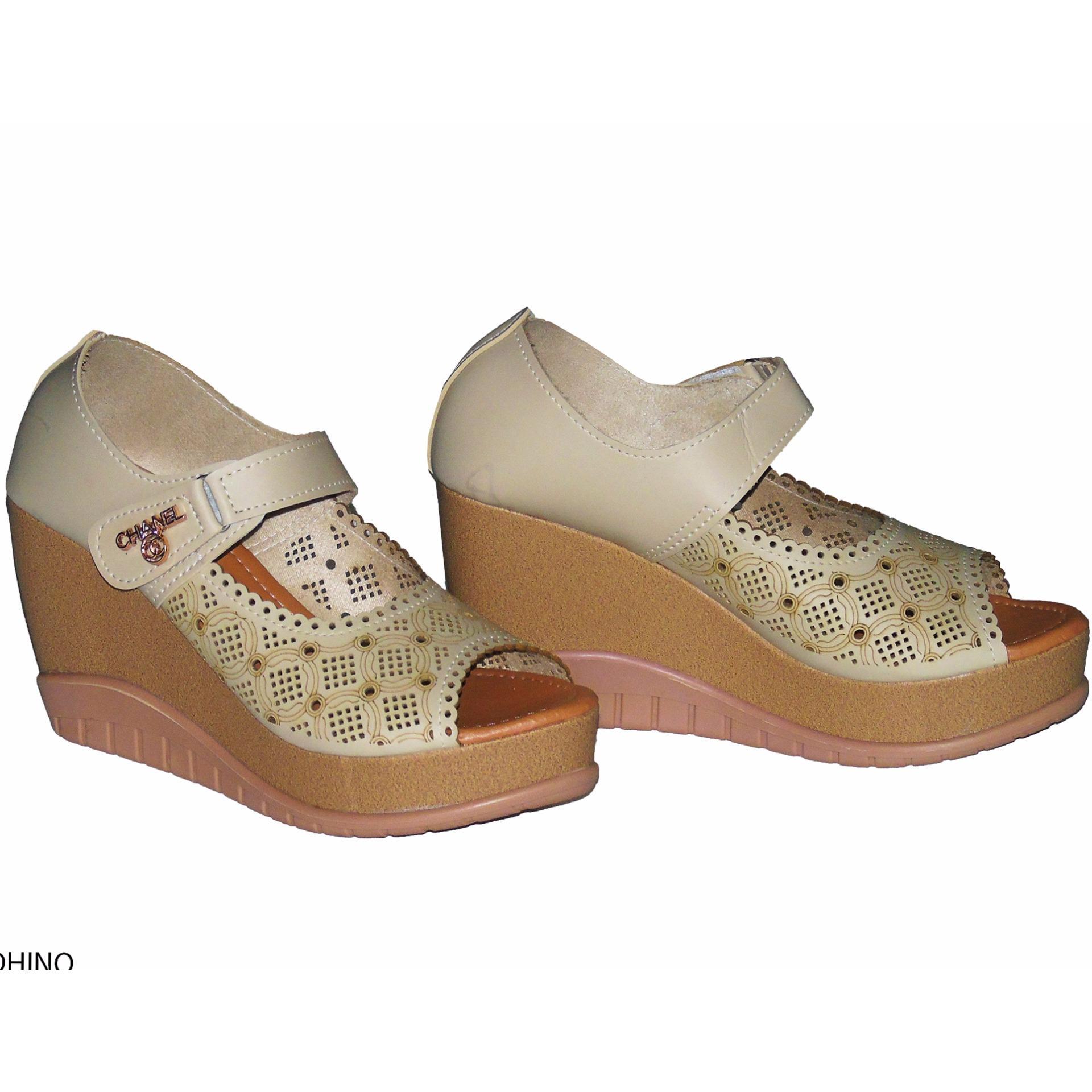 Dapatkan Harga tendadome Diskon Shopee Indonesia Source · Aldhino Sepatu Sandal Wedges Wanita MGS 01 Crem