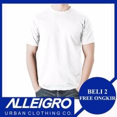 Alliegro Kaos Pria Polos Premium - Kaos Distro Polos Putih 30s