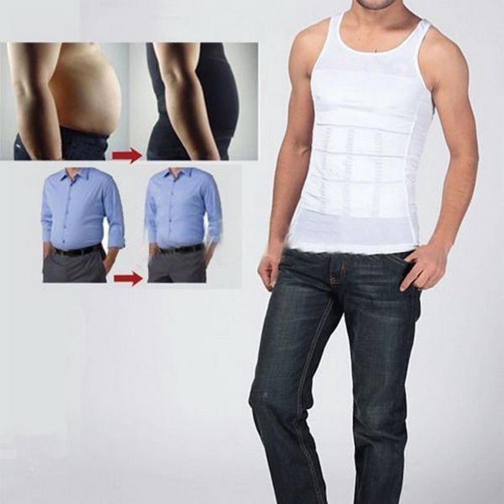 ... Allwin tubuh pria pelangsing perut korset pembentuk perut ikat pinggang dalam kemeja putih L ...