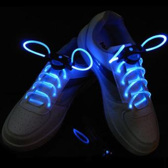 Amart Cool Fashion LED Shoelaces Flash Light Shoelaces Shoe Accessories (Blue) - intl