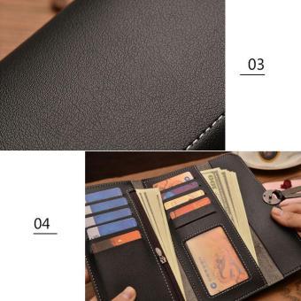 Amart Fashion dompet panjang wanita Korea tas genggam kulit dompet beritsleting wadah kartu koin untuk hadiah - 5