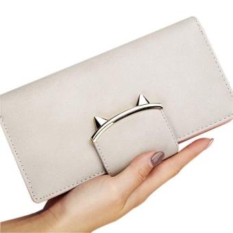 Amart Fashion dompet wanita kulit PU dompet panjang wadah koin kartu kredit dengan rumbai - 2