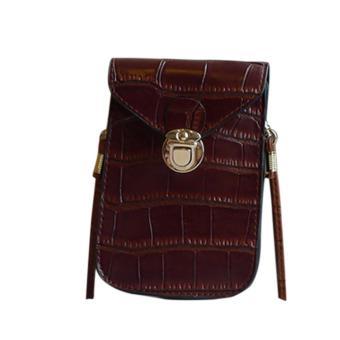 Amart fashion tas dompet tas bahu tas kurir tas gendong tas selempang mini kulit PU untuk wanita - 2