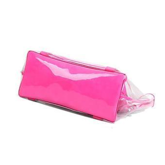 Amart fashion tas pantai jinjing wanita Jelly candy bening transparan (merah mawar)- International - 2