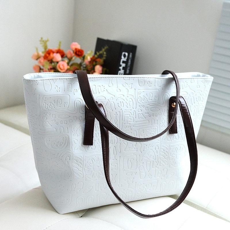 Amart Fashion Women Handbag PU Leather Single Shoulder Bag Large Capacity Tote Bags - intl