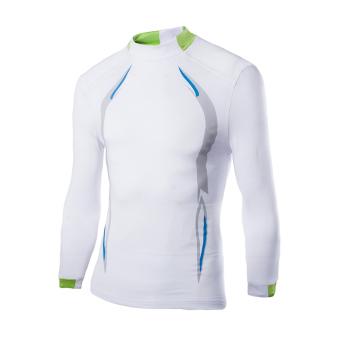 Amart Kaos pria Lengan Panjang pakaian kemeja Olahraga Bersepeda outdoor (putih)