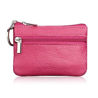 Amart Mini Pouch Zipper Coin Purses Women's Small Change Money Bags Pocket Wallets Key Holder Case (Rose red) - intl