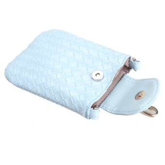 Amart Phone Shoulder Bags Clutch Bag Knitting Bag for iphone 4s/5/5s/MP3/4( Blue) - Intl - 4