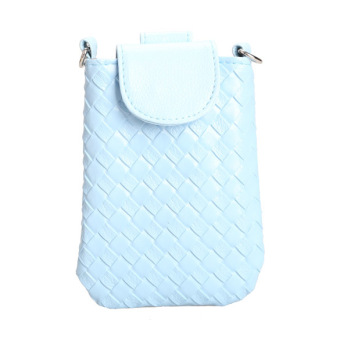 Amart Phone Shoulder Bags Clutch Bag Knitting Bag for iphone 4s/5/5s/MP3/4( Blue) - Intl - 2