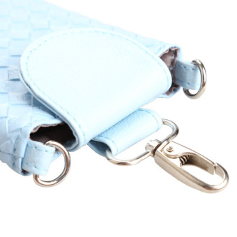Amart Phone Shoulder Bags Clutch Bag Knitting Bag for iphone 4s/5/5s/MP3/4( Blue) - Intl - 5