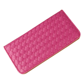 Amart PU Leather Clutch Wallets Hand Bag Change Purse ( Rose Red) - Intl - 2