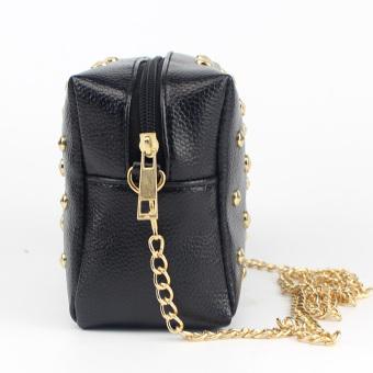 Amart PU Mini kulit tas koper tas kurir rantai Keling (hitam) - International - 3