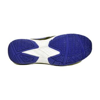 Amazaki Gigas Black Blue - Sepatu Futsal Bahan Kulit Warna Hitam - 4