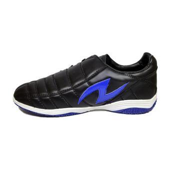 Amazaki Gigas Black Blue - Sepatu Futsal Bahan Kulit Warna Hitam - 2