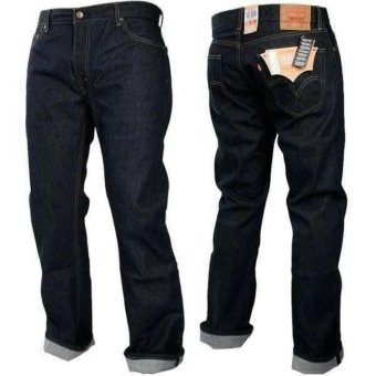 AN Celana Jeans Panjang Pria Hight Quality [Black Blue]