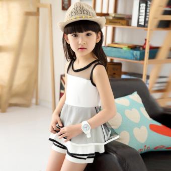 Anak besar perempuan baru gadis sifon rok (Gambar warna)