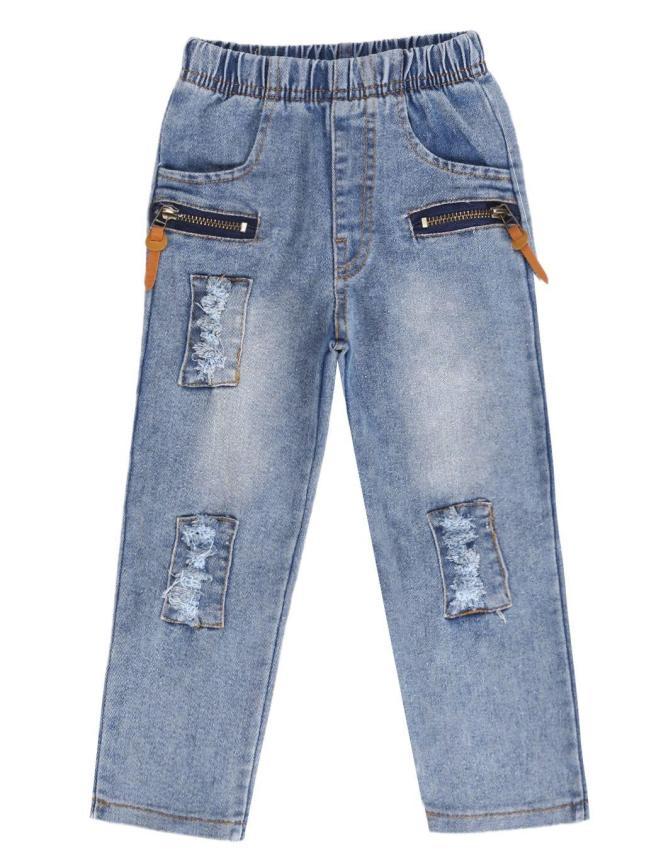 Anak Model Celana Jeans Denim Pants Cowok Elastis Ikat .
