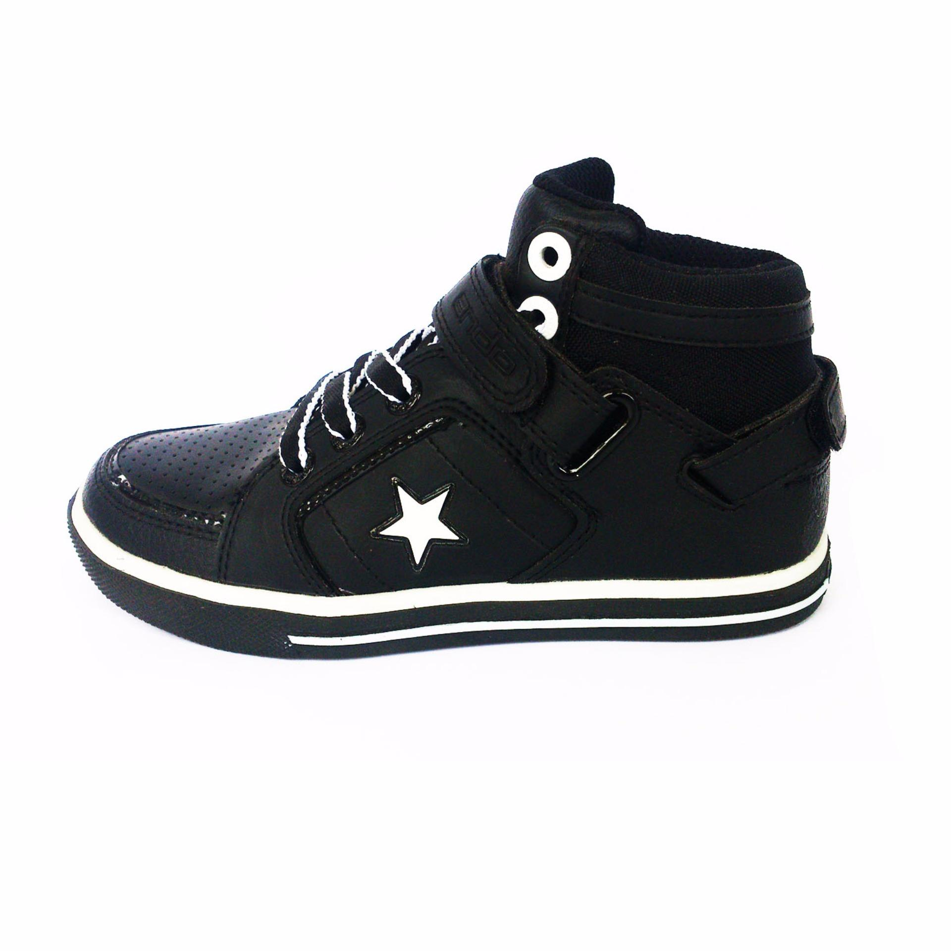 Ando Sepatu Sekolah Sneakers Vigo P Hitam Daftar Update Harga Anak Warna New Prestige Putih