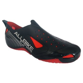 AP Boots Sepatu Allbike Cycling Shoes - Black Red