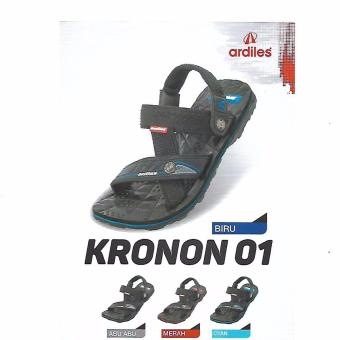 ... Ardiles KRONON 01 Sandal Gunung Blue Black ukuran '42'Pria/Wanita/Fashion