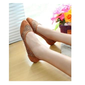 Arlaine Angel Flat Shoes [Tan]