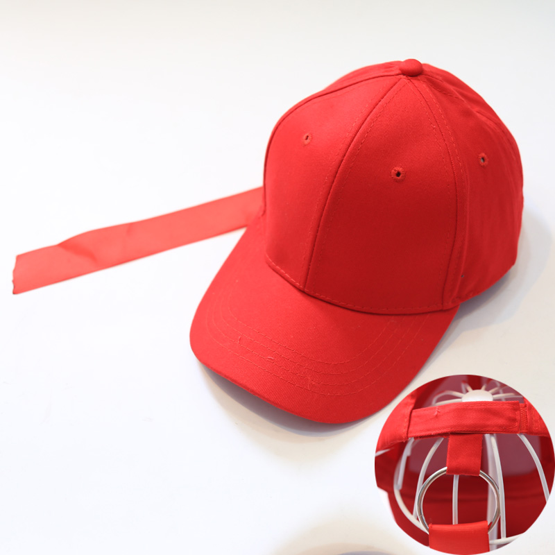 ARMKEAM LIFE Korea Fashion Style warna solid perempuan bisbol topi merah topi (Lebar pita)