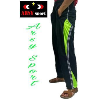 Arsy Sport Celana Training Celana Panjang Pria - HItam Stabilo - 2 ...
