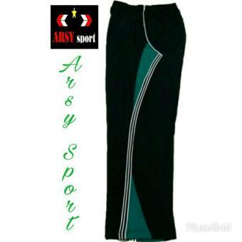 Arsy Sport Celana Training Model Lis 3 - Hitam Toska