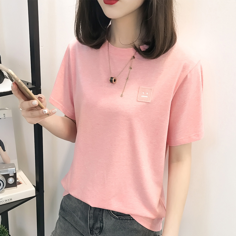 Baru Musim Panas Mode Lengan Pendek T-shirt (5242 hitam)